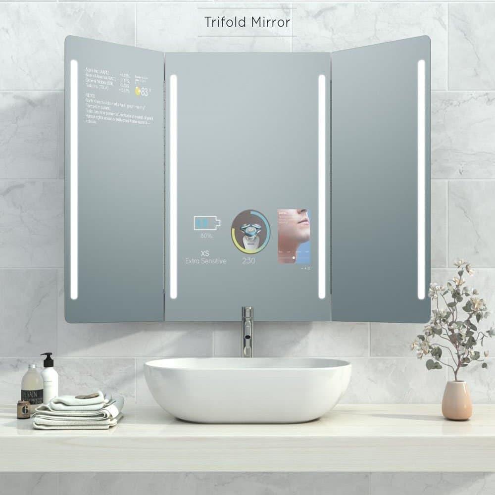 Qaio Smart Mirror Trifold Future Decor